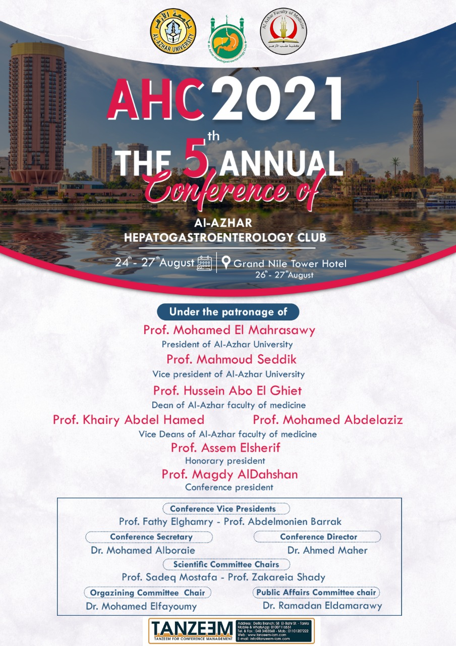 AHC 2021 The 5th Annual Conference of Al Azhar Hepatogastroenterology Club